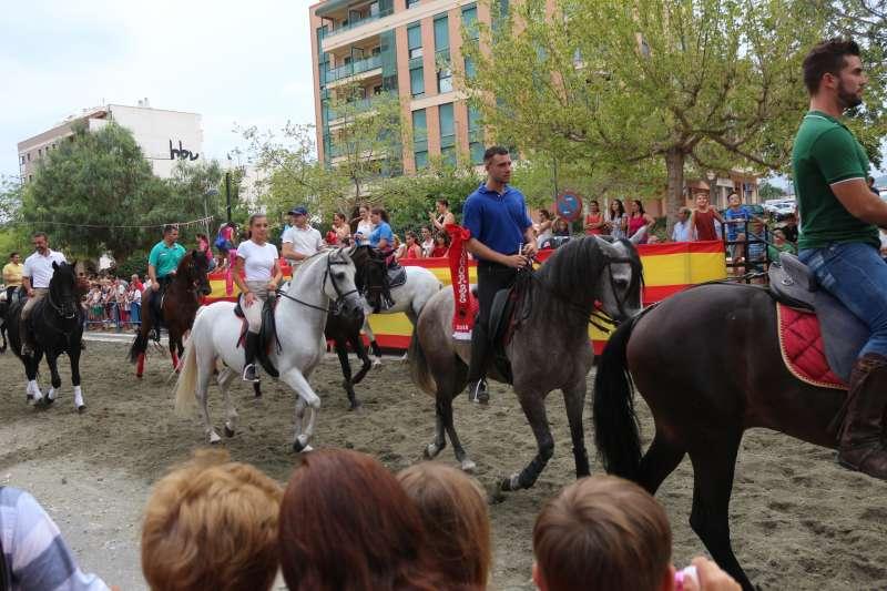 Segorbe tiene predilección por los caballos. Foto: carrera de cintas 2018