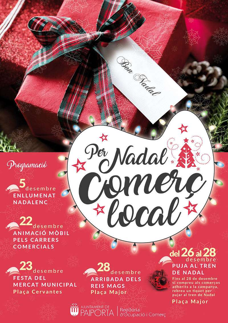 Cartell de la campanya del comerç de Paiporta en Nadal. EPDA