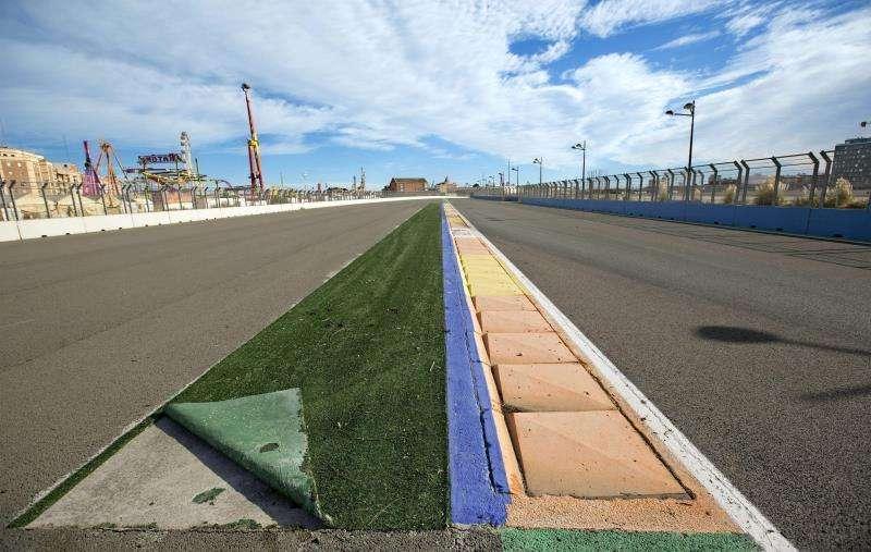 Pista del circuito urbano de F1 de València. EFE/Archivo