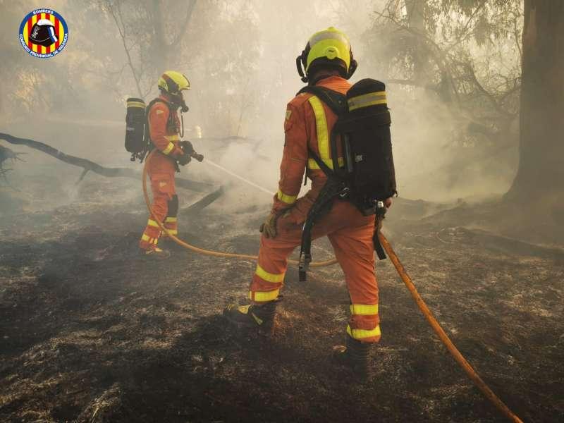 Actuación de los bomberos. EPDA