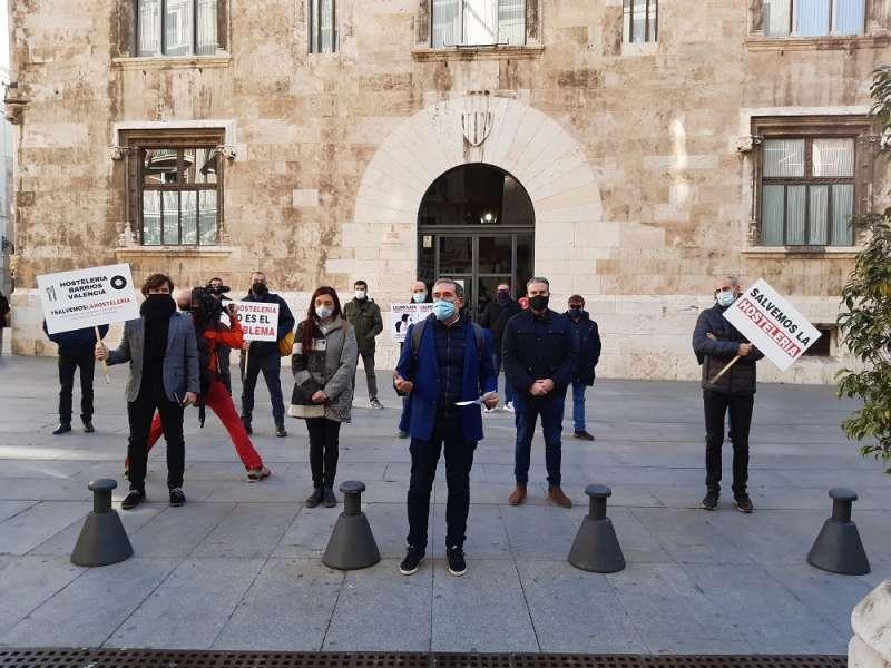 Protesta ante el Palau de la Generalitat