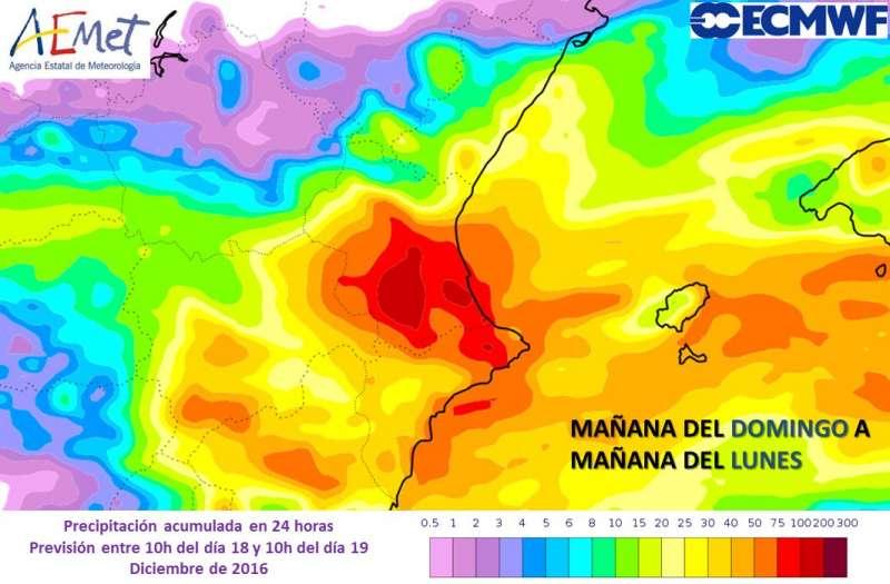 Precipitaciones en las prox. 24 horas
