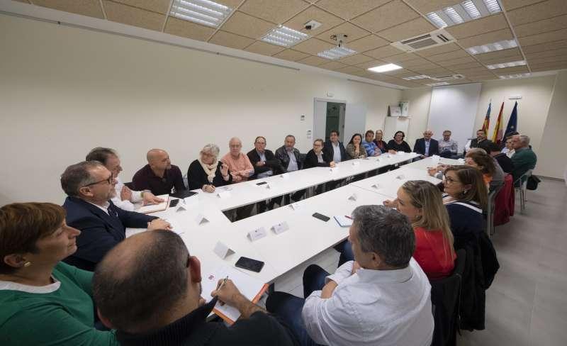 Reunión alcaldes con Martí en Segorbe