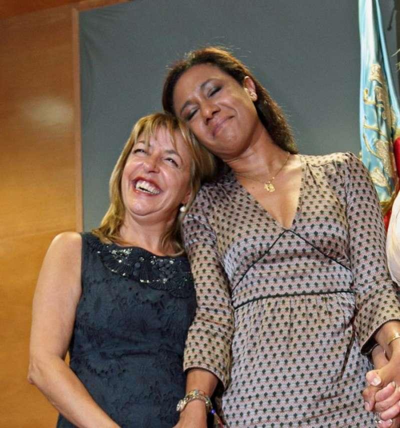 las exconselleras Dolores Johnson y Trinidad Miró. EFE/Archivo