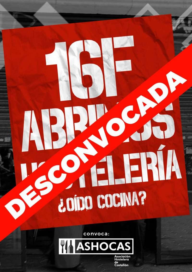 Cartel de protesta desconvocada (ASHOCAS)