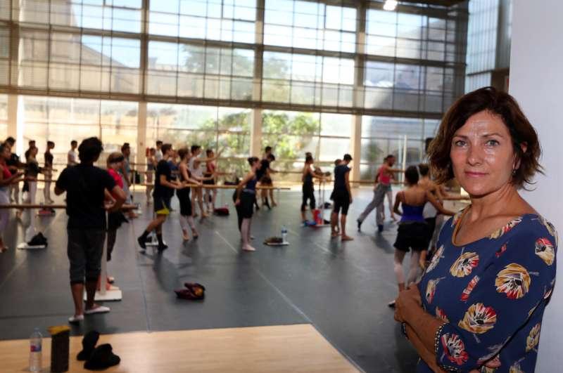 La concejala Maite Girau en el Campus de Danza.