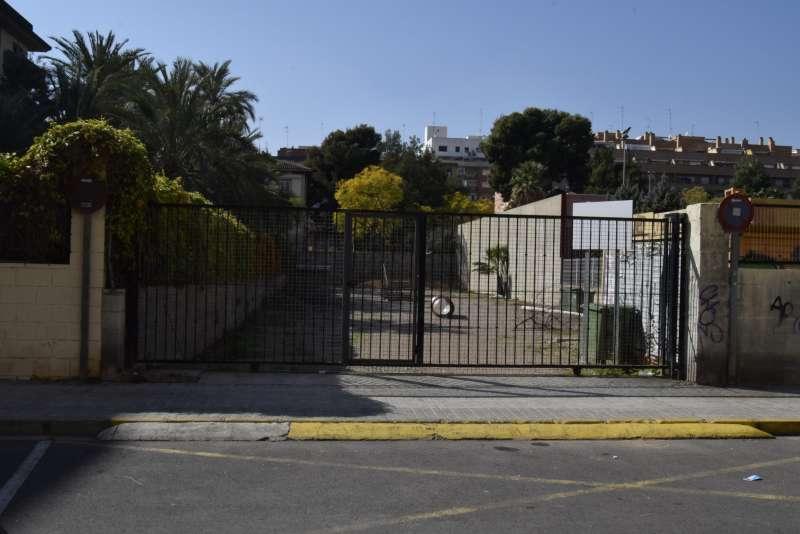 Zona donde su ubicará el parque para perros. EPDA