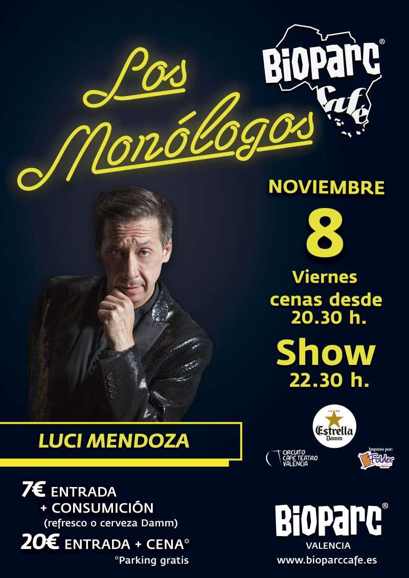 Café Monólogo presenta a Luci Medoza el próximo 8 de noviembre en el Bioparc. -EPDA