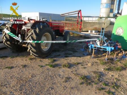 Imagen del tractor sustraído. FOTO: GC