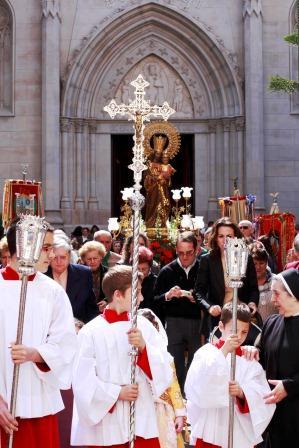 Procesión en honor se San José en la iglesia de San José de la Montaña. Foto A.SÁIZ/AVAN