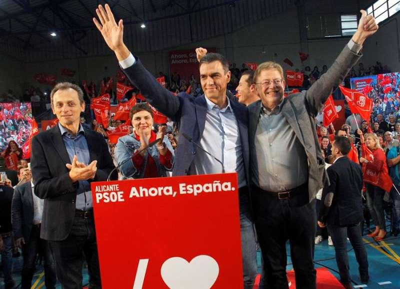 Sánchez, en un acto en Elda. EFE
