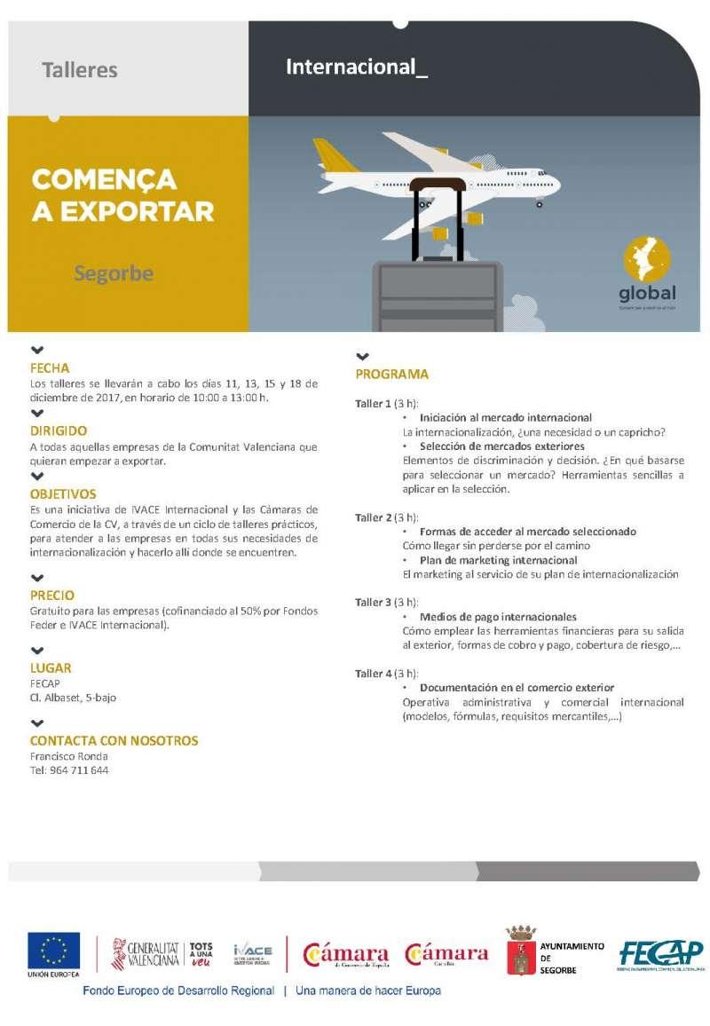 La Federación Comarcal Empresarial del Alto Palancia organiza los talleres