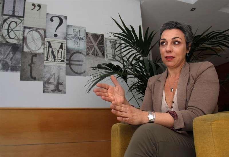 La presidenta de la Asociación Provincial de Hoteles (APHA), Victoria Puche, en una entrevista con EFE.EFE/Morell
