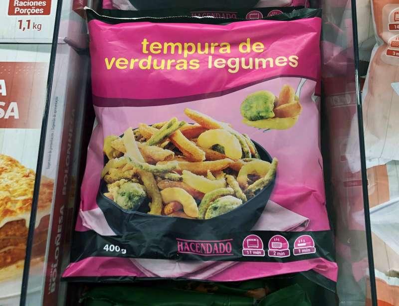 Bolsa congelada de tempura de verduras