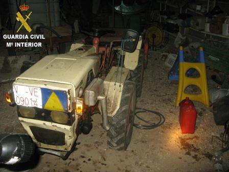 Imagen de la Guardia Civil sobre el material incautado.