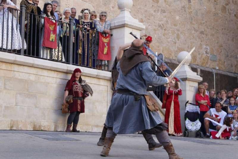 Momento de un espectáculo de la Feria Medieval