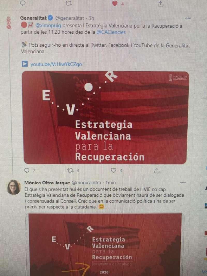 Captura de Twitter. EPDA