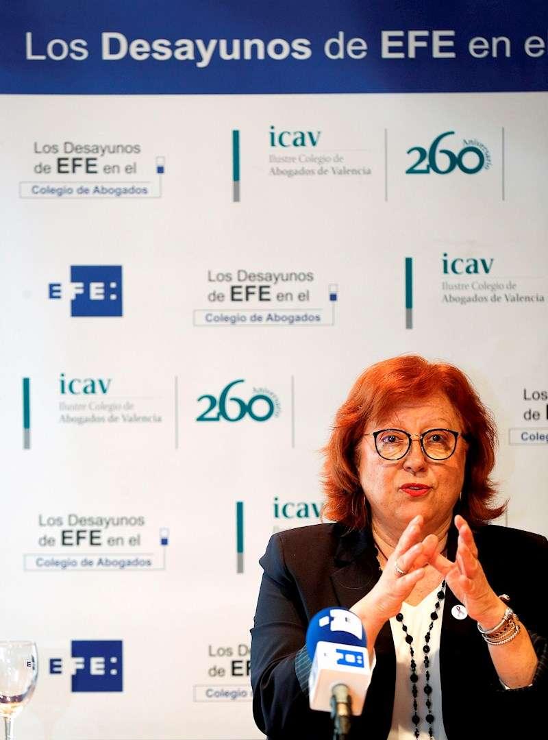 La delegada del Gobierno en la Comunitat Valenciana, Gloria Calero. EFE