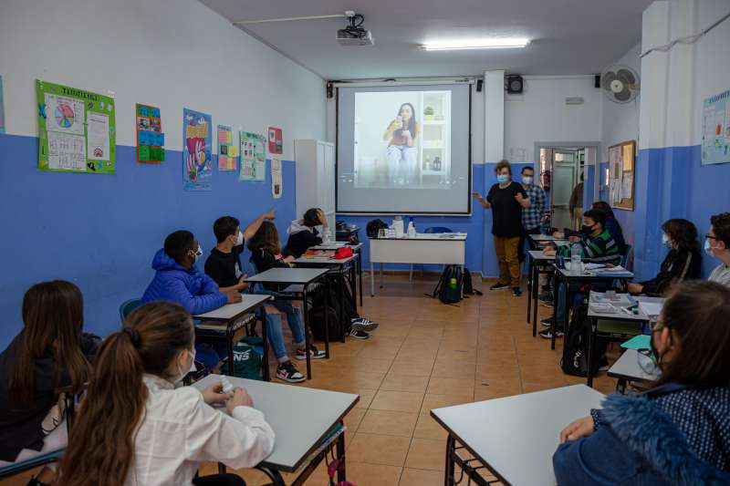 Un aula con el programa educativo. EPDA