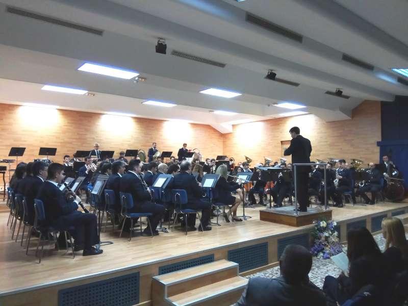 La banda sinfónica de la Unión Musical Santa Cecilia (UMSC) de Villar del Arzobispo