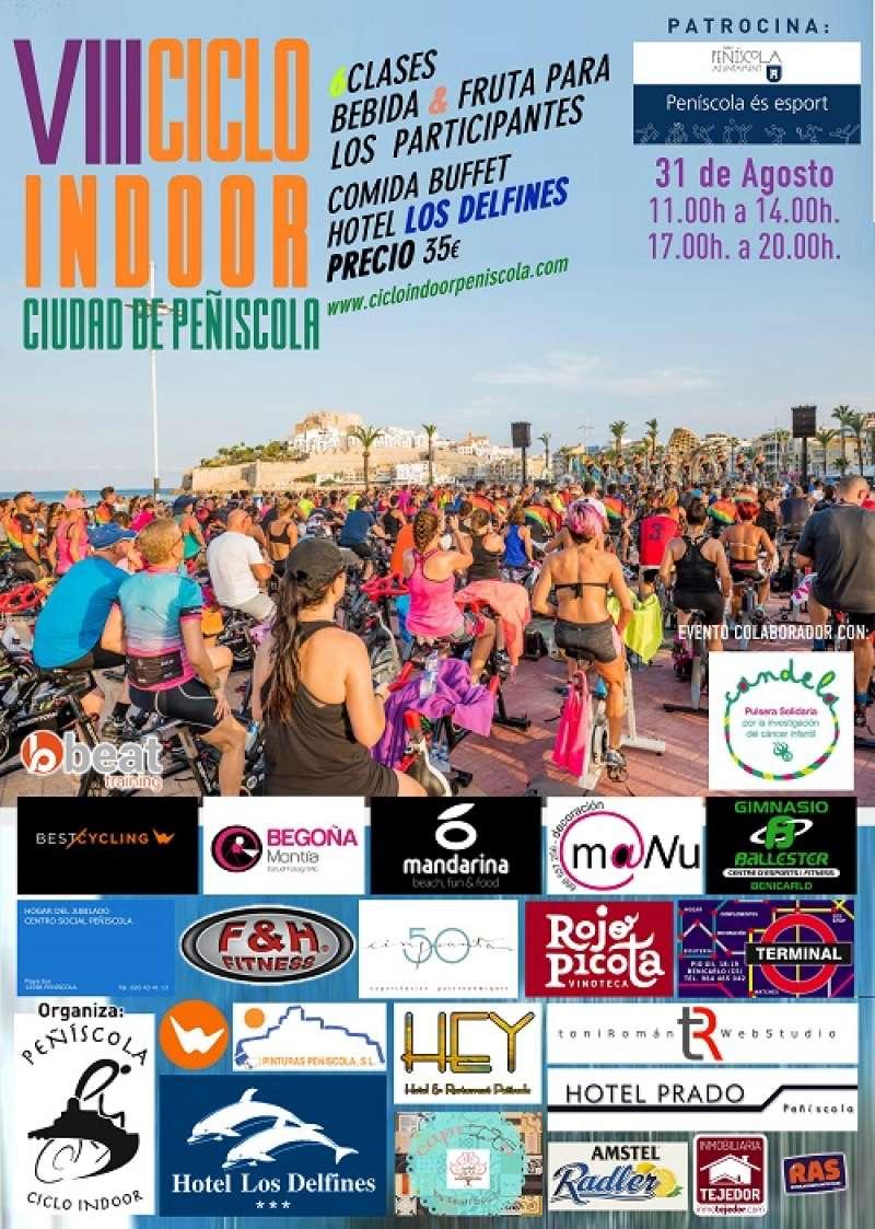 Cartel VIII Ciclo Indoor Ciudad de Peñíscola. EPDA