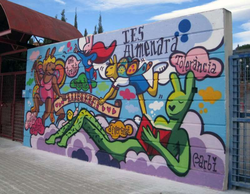 Mural en el IES Almenara