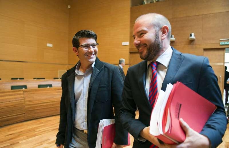El president de la Diputació de València, Jorge Rodríguez, i el diputat d