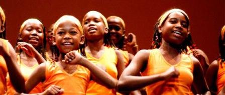 El Coro Malagasy Gospel formado por 25 niñas y niños. FOTO: EPDA