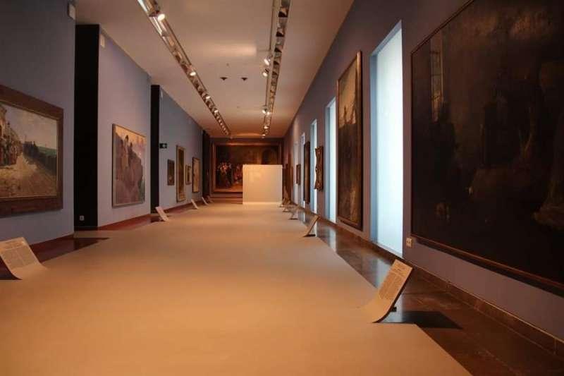 Una de las salas del Mubag, en una imagen compartida en redes por el museo durante el confinamiento
