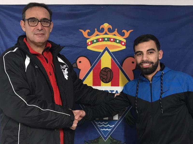 El director deportivo del Paiporta CF junto a Moha. EPDA