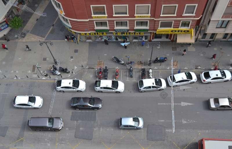 Taxistas de València en la huelga. EPDA