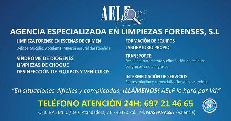 Anuncio de la Agencia Especializada en Limpiezas Forenses de Massanassa. EPDA