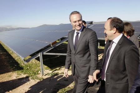 Inauguración de la Planta Solar fotovoltaica en Alfarrasí. Foto EPDA