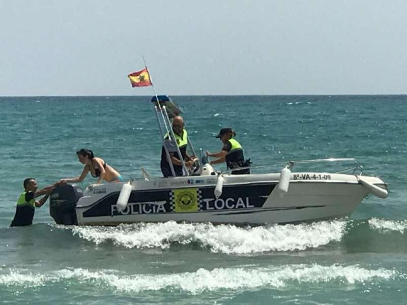 Simulacro realizado con éxito en la playa de Port de Sagunt. EPDA