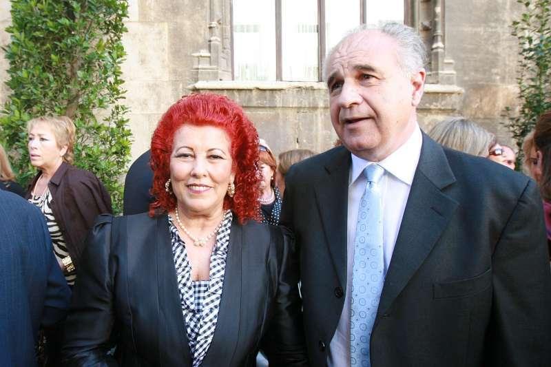 Consuelo Císcar y Rafael Blasco. FOTO MARÍN