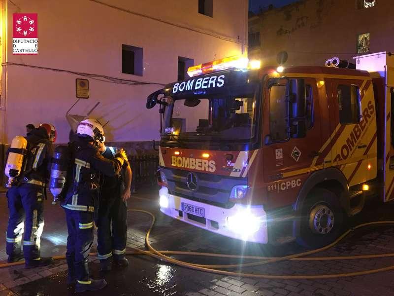 Actuaron tres dotaciones de bomberos