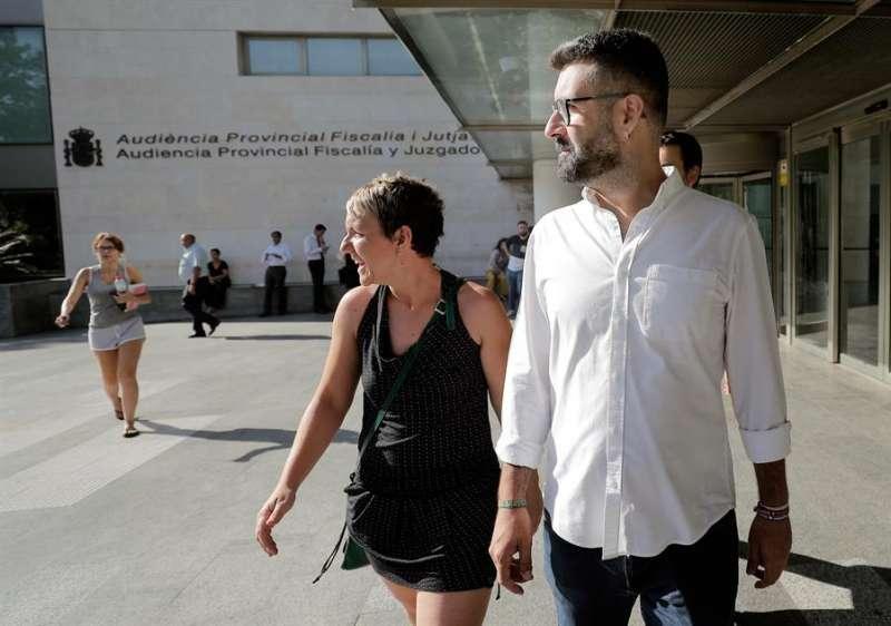 El concejal de Cultura Festiva de València, Pere Fuset, en la Ciudad de la Justicia. - EFE