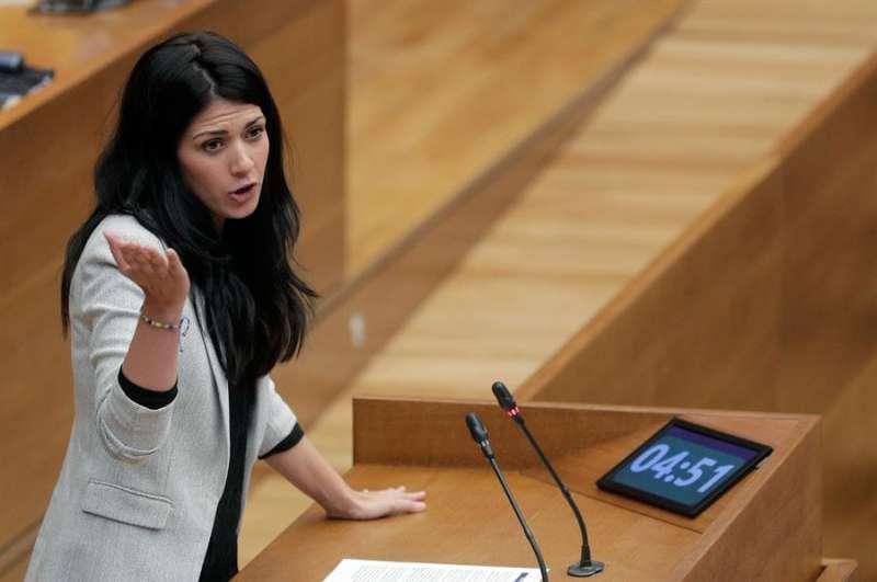 La síndica de Unides Podem, Naiara Davó, en una imagen de archivo. EFE