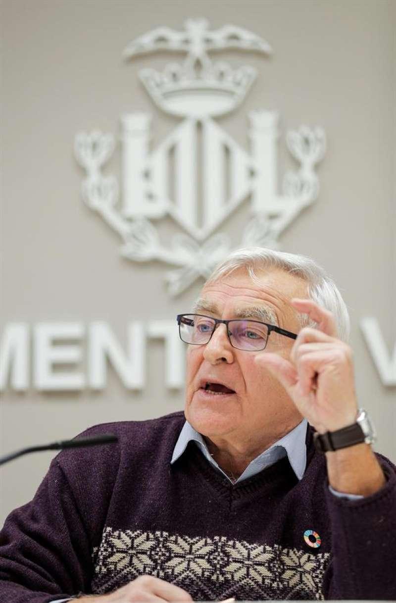 El alcalde de València, Joan Ribó. EFE/Manuel Bruque