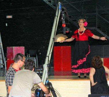 Uno de los momentos de la grabación del vídeo. FOTO: EPDA.