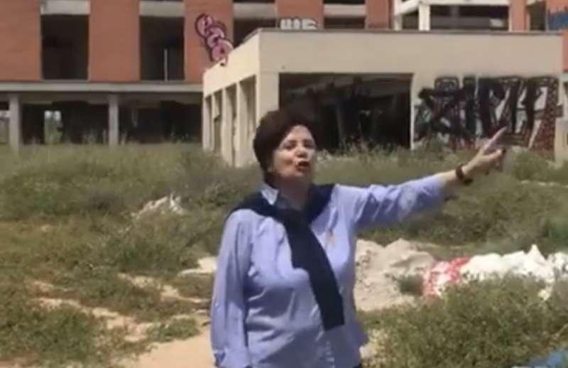 Parte del vídeo de Encarna Casabán, reivindicando una residencia en Picanya.