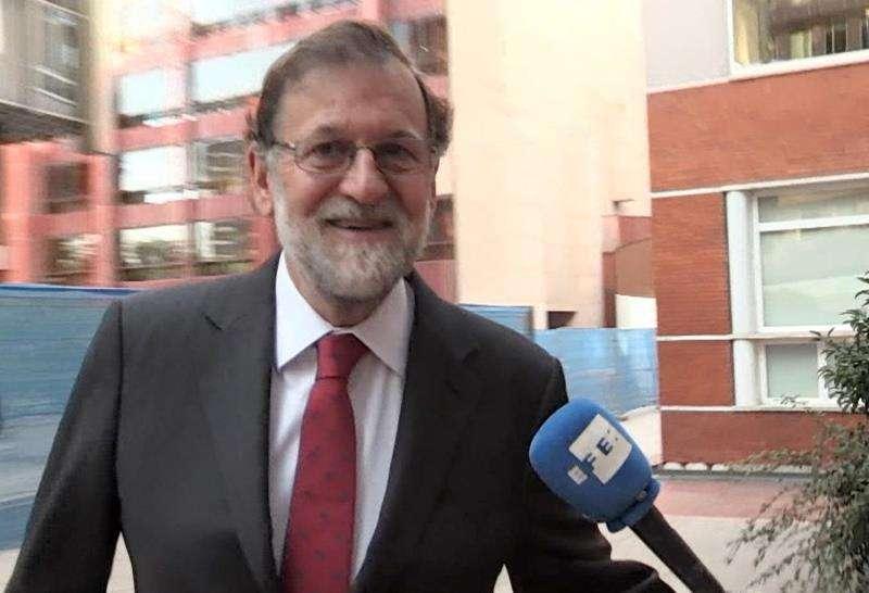 Imagen de televisión del expresidente del Gobierno Mariano Rajoy cuando se incorporó a una plaza de registrador de la propiedad en Madrid tras dejar vacante la de Santa Pola (Alicante), que ocupó al abandonar la política activa. EFE/Archivo