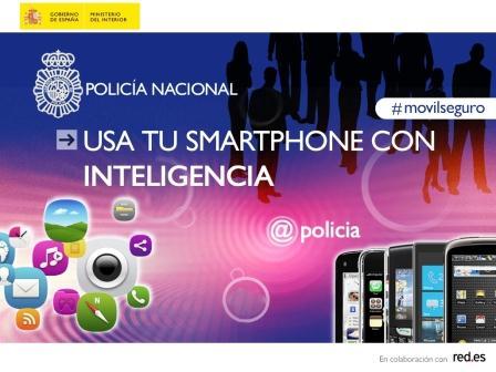 Cartel de la campaña de Policía por el uso seguro de los móviles y todas sus posibilidades. Foto EPDA