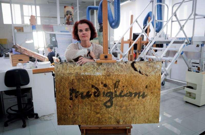 La restauradora y presidenta del comité científico de la Fondazione Amedeo Modigliani Ricerca Scientifica, Greta García, en la entrevista con EFE.