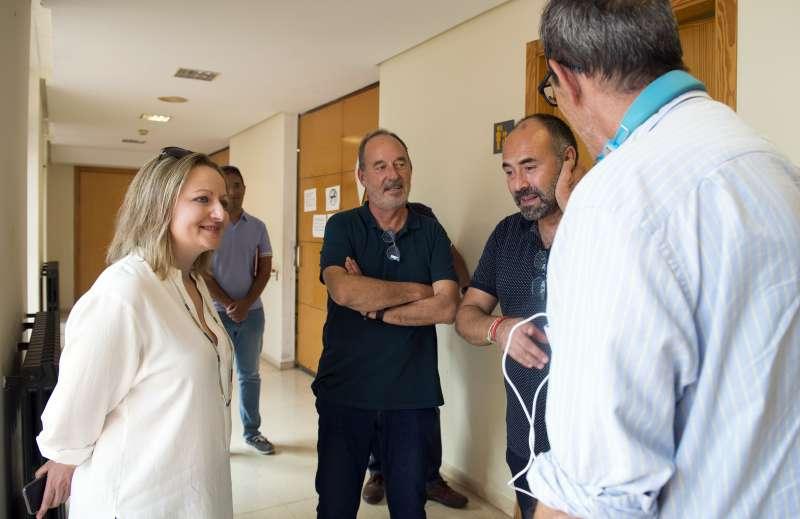 Pilar Sarrión en la visita al Hospital de Bétera./EPDA