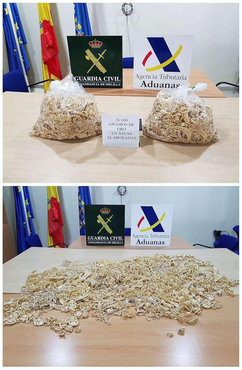 Oro incautado. EFE/ Guardia Civil