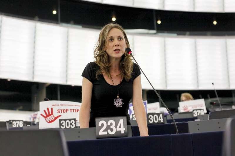 La portaveu d?Esquerra Unida al Parlament Europeu Marina Albiol.