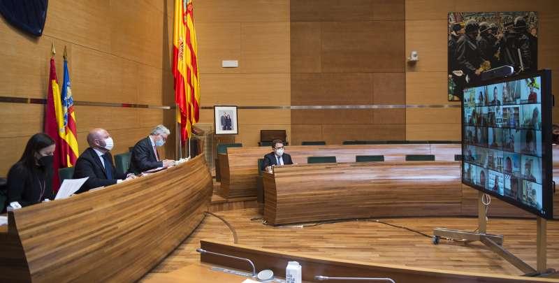 Pleno de la Diputación. FOTO ABULAILA