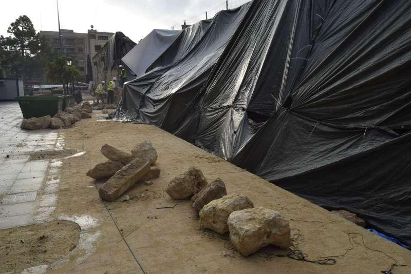 El muro perimetral de Los Silos fue derrumbado después del episodio de fuertes lluvias, el pasado 18 de septiembre.
