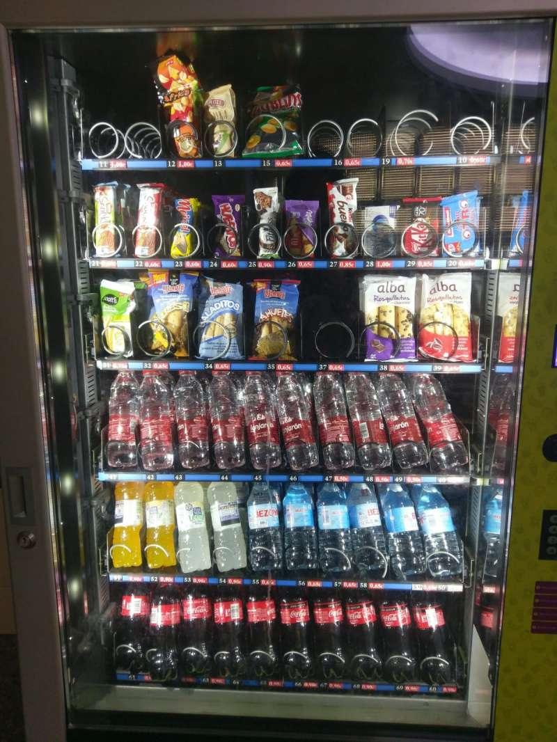 Foto de una de las máquinas de vending que se encuentra en uno de los centros de la Generalitat Valenciana. CODiNuCoVa